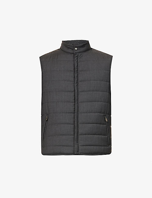 CANALI: Padded wool gilet
