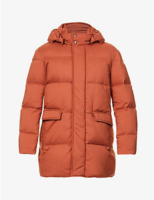 CANALI: Hooded padded shell-down parka