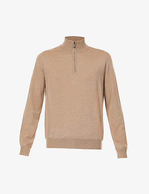 CANALI: High-neck wool jumper