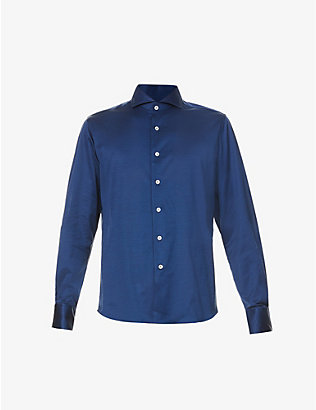 CANALI: Slim-fit cotton shirt