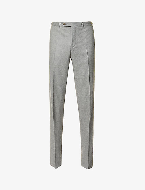 CANALI: Slim-fit wool trousers