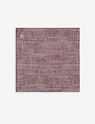 CANALI: Washed silk pocket square