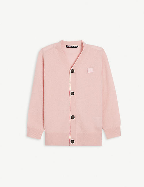 ACNE STUDIOS: Keve V-neck wool cardigan 3-10 years