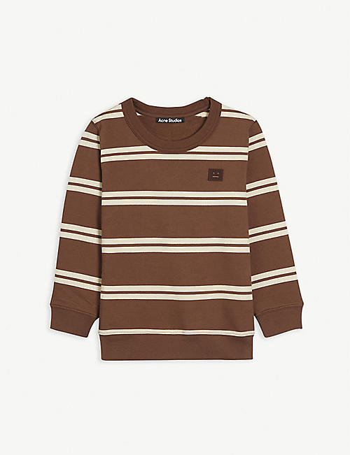 ACNE STUDIOS: Mini Fairview stripe cotton sweatshirt 3-10 years