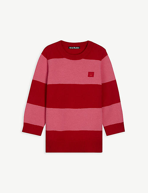 ACNE STUDIOS: Mini Nimah striped wool-knit jumper 3-10 years