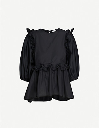 CECILIE BAHNSEN: Marie puffed-sleeve cotton top