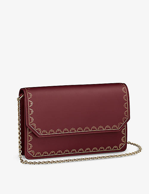 CARTIER: Guirlande de Cartier leather wallet-on-chain