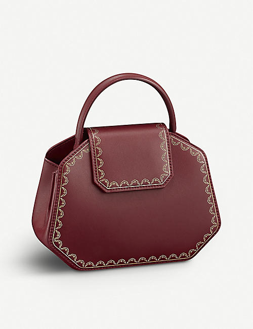 CARTIER: Guirlande mini leather shoulder bag