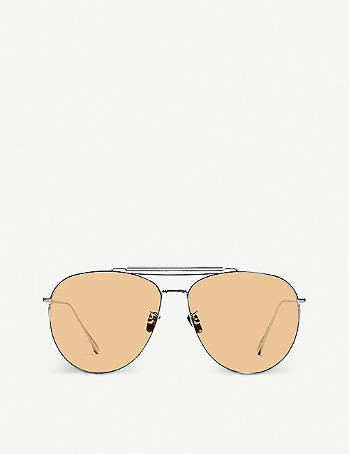GENTLE MONSTER: MIOMIO 02(OR) metal tinted aviator sunglasses