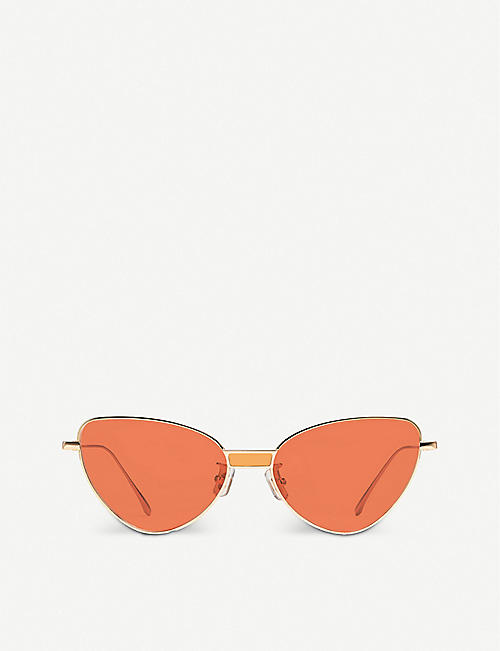 GENTLE MONSTER: Chakra 032(OR) gold-toned metal cat-eye sunglasses