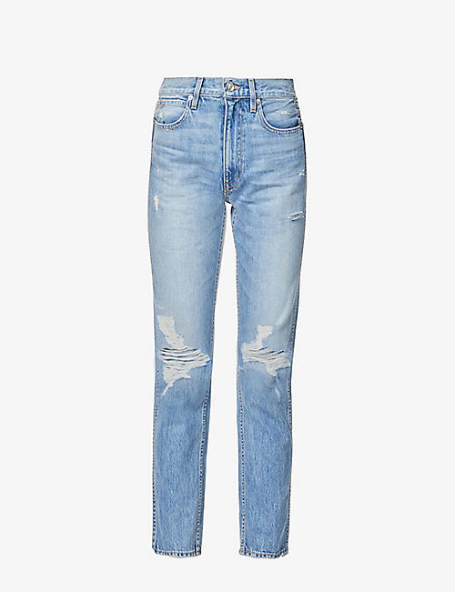 SLVRLAKE: Virginia slim-leg high-rise jeans