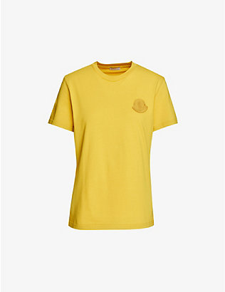 MONCLER: Branded cotton-jersey T-shirt
