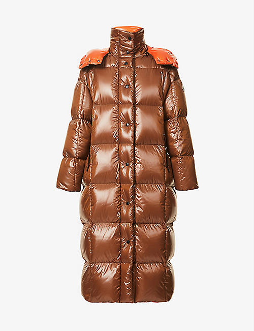 MONCLER: Parnaiba hooded nylon coat