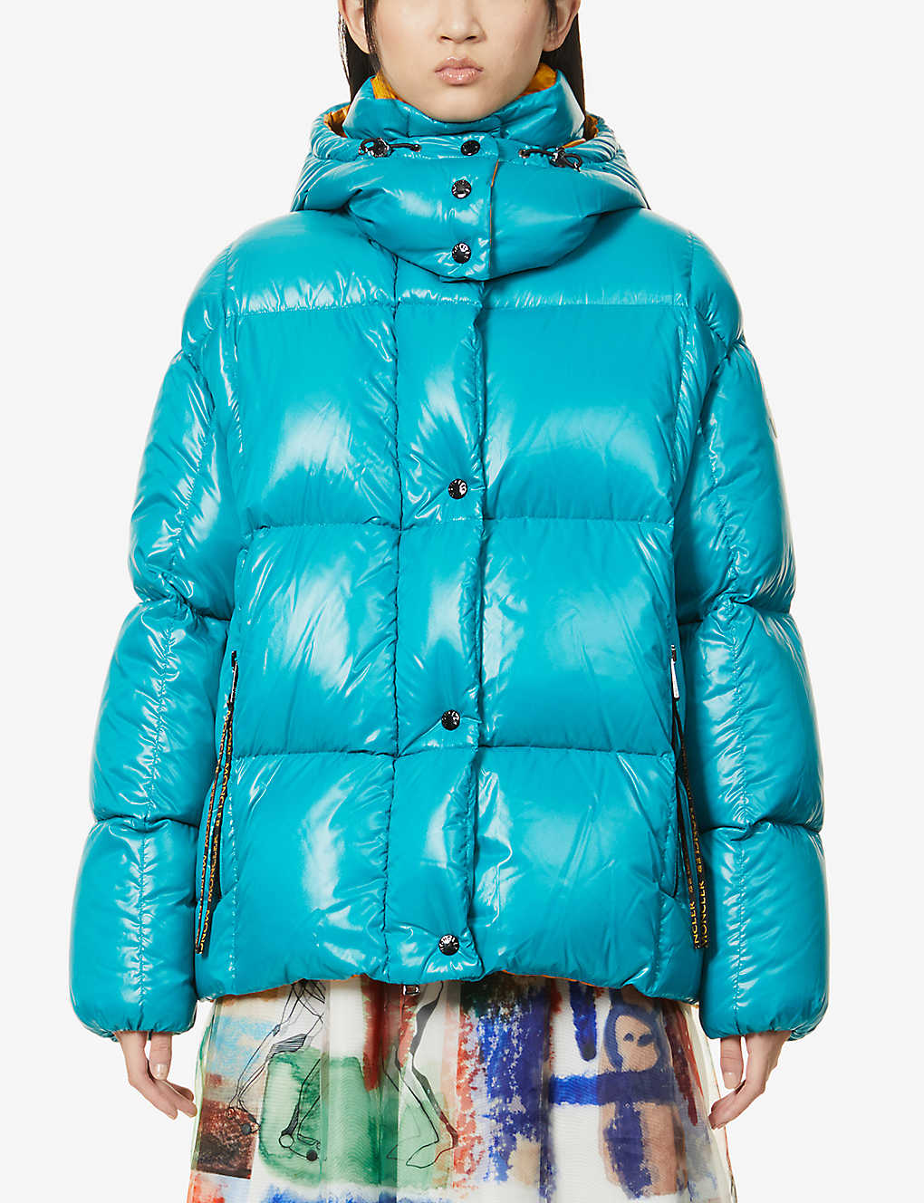 MONCLER: Parana hooded shell-down coat