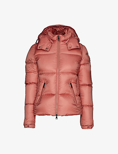MONCLER: Fourmi funnel-neck shell-down jacket