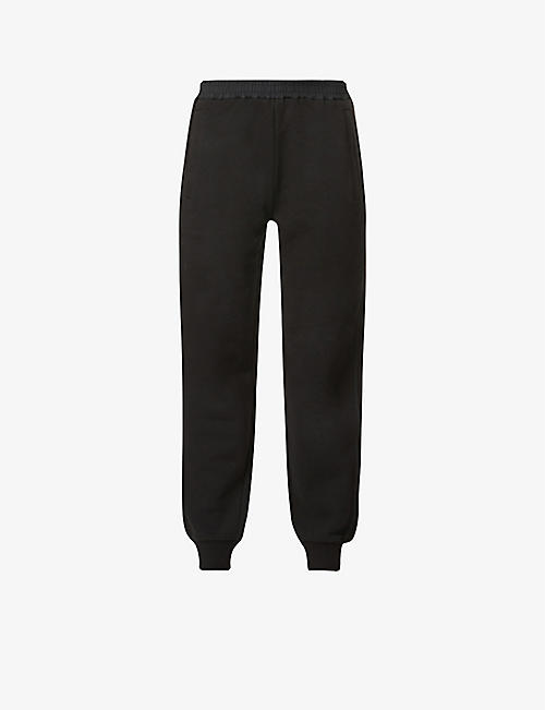 MONCLER: Pantalone brand-badge cotton-blend jersey trousers