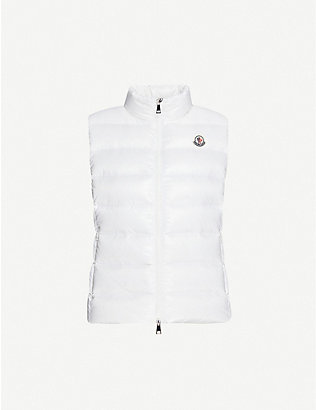 MONCLER: Ghany logo-embroidered shell-down gilet