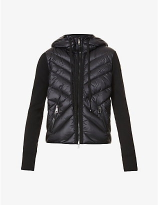 MONCLER: Hooded merino wool cardigan