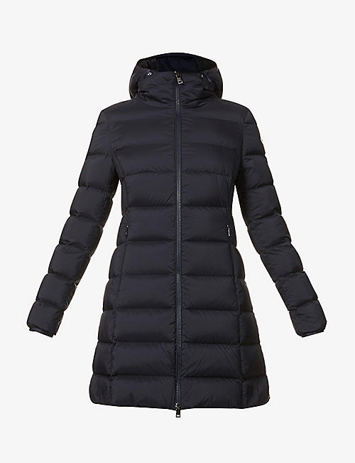 MONCLER: Gie funnel-neck shell-down coat