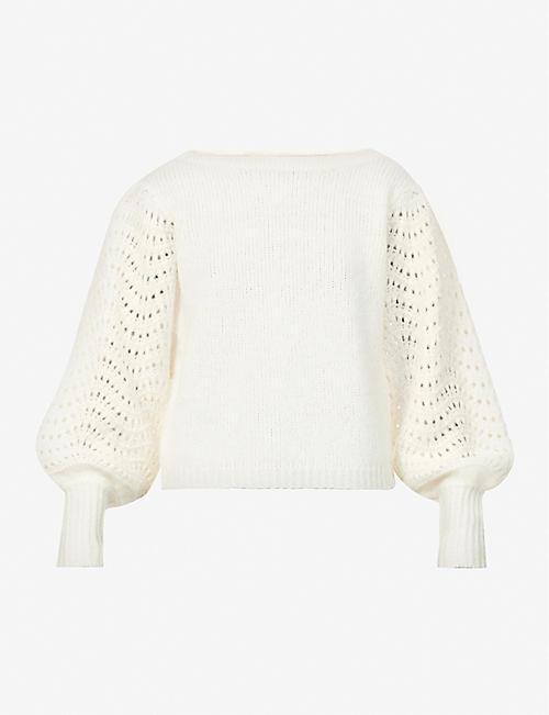 MERLETTE: Somerset dolman-sleeved wool-blend jumper