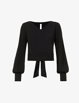 MERLETTE: Phillimore puffed-sleeve cotton jumper