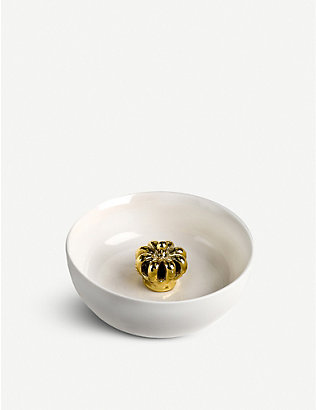 POLS POTTEN: Gold-toned crown porcelain bowl 15cm