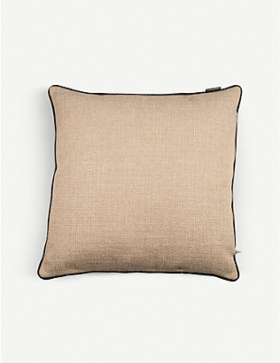 POLS POTTEN: Smooth bordered woven cushion 50cm x 50cm