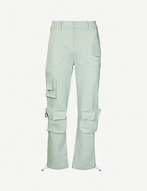PIECES UNIQUES: Trust tapered twill trousers