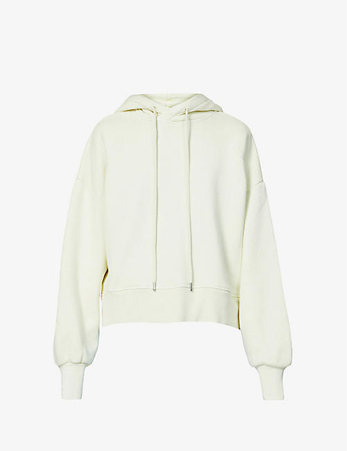 WON HUNDRED: Lilou cropped organic cotton-jersey hoody