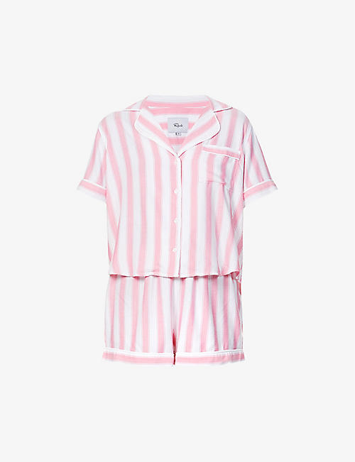 RAILS: Darcie striped woven pyjama set
