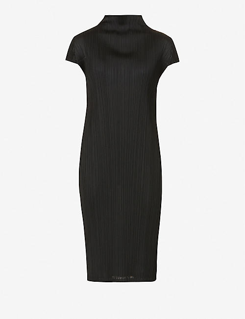 PLEATS PLEASE ISSEY MIYAKE: Monthly pleated woven midi dress