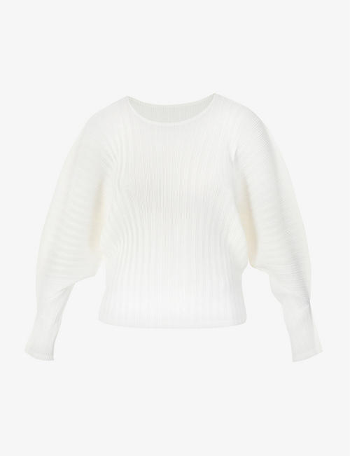 PLEATS PLEASE ISSEY MIYAKE: Pleated long-sleeved woven top