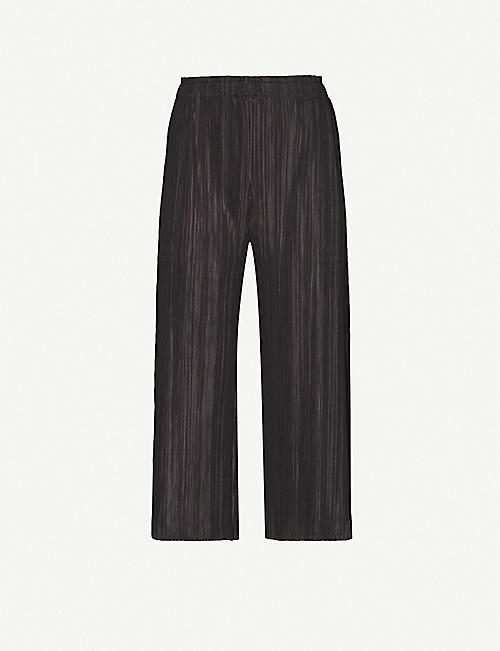 PLEATS PLEASE ISSEY MIYAKE: Mellow wide-leg high-rise woven trousers