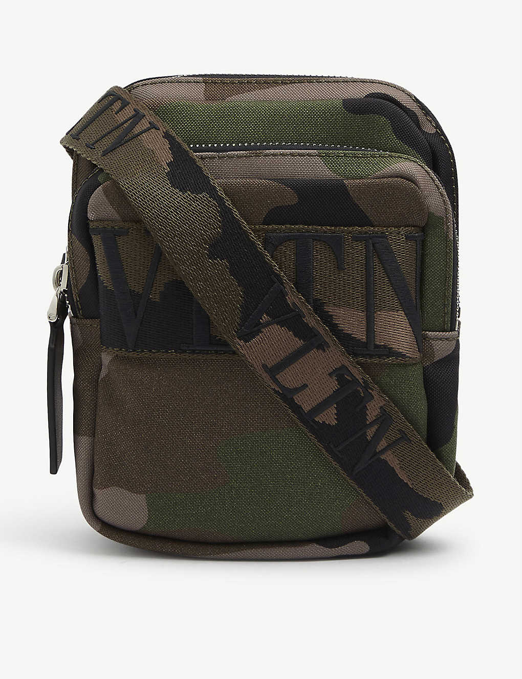 VALENTINO GARAVANI: Camouflage-print canvas cross-body bag