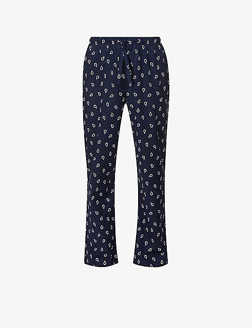 DEREK ROSE: Ledbury paisley-print cotton-poplin pyjama bottoms