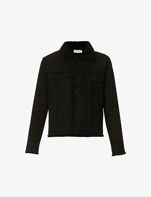 SAINT LAURENT: Boyfriend shearling jacket