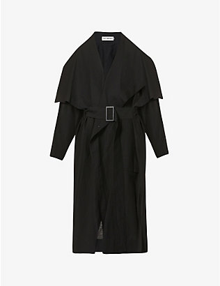 ISSEY MIYAKE: Belted woven coat