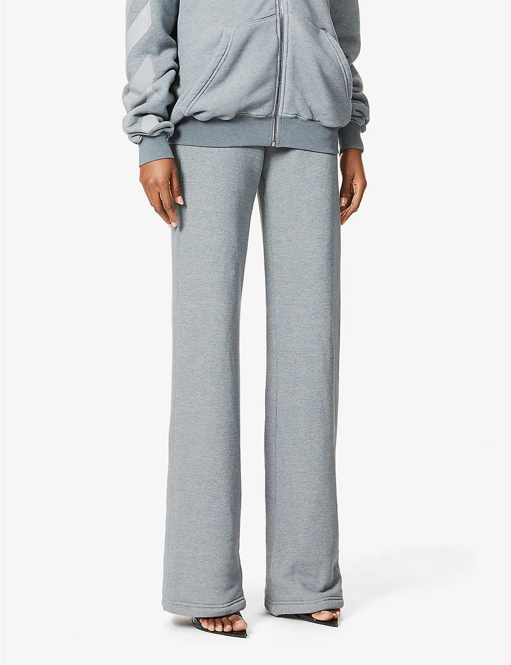 OFF-WHITE C/O VIRGIL ABLOH: Diagonal stiped cotton-jersey jogging bottoms