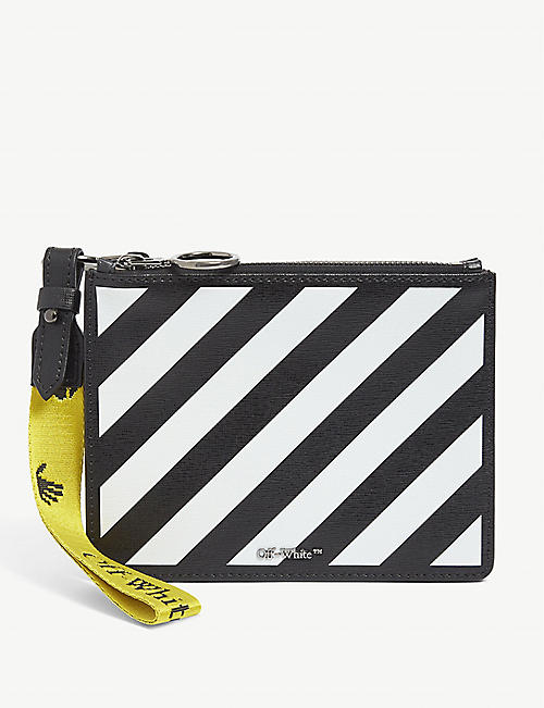 OFF-WHITE C/O VIRGIL ABLOH: Striped leather pouch