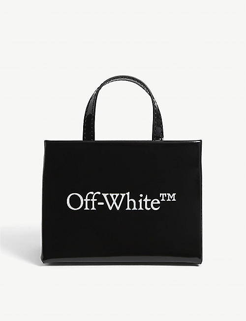 OFF-WHITE C/O VIRGIL ABLOH: Baby Box logo-print leather tote bag