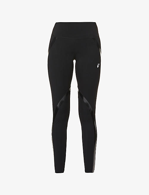 OFF-WHITE C/O VIRGIL ABLOH: Athleisure branded stretch-woven leggings