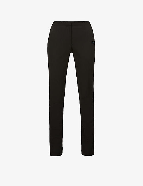OFF-WHITE C/O VIRGIL ABLOH: Basic branded slim-leg high-rise woven trousers