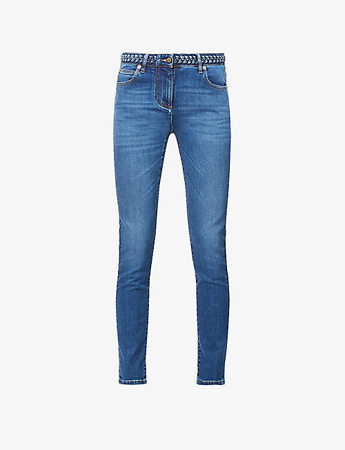 VALENTINO: Skinny mid-rise jeans