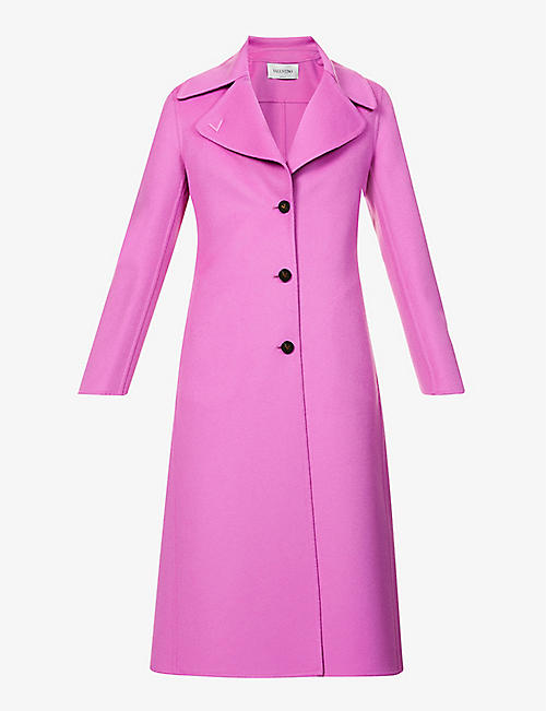 VALENTINO: Single-breasted wool and cashmere-blend coat