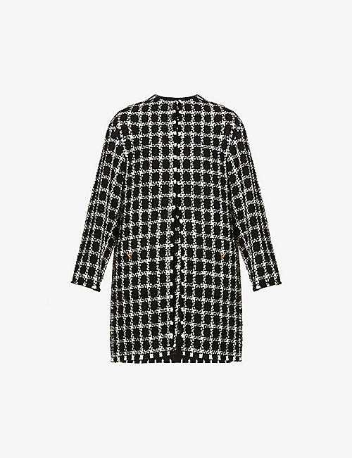 VALENTINO: Tweed wool-blend coat