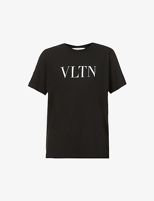 VALENTINO: Branded cotton-jersey T-shirt