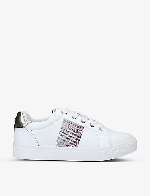 MISS KG: Kerry embellished low-top trainers