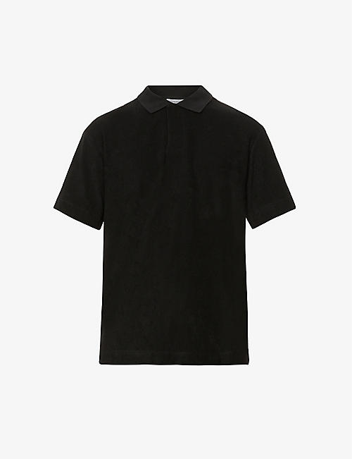 SUNSPEL: Cotton-towelling polo shirt