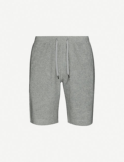 SUNSPEL: Relaxed-fit cotton-towelling shorts