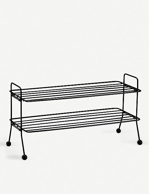 MAZE: Bill powder-coated metal shoe shelf 39cm x 74cm